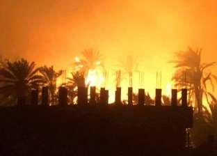 مروحيات تحلق في سماء الراشدة.. والسيطرة على الحريق بعد هدوء الرياح