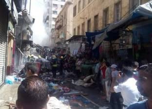 بالصور| الحماية المدنية تسيطر على حريق نشب في محل أحذية بالإسكندرية