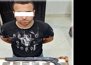 ضبط أحد العناصر الإجرامية بحيازته سلاح ناري بحلوان