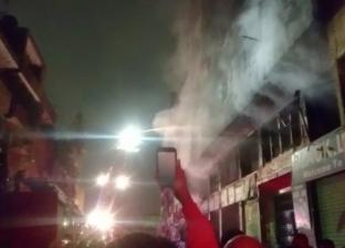 السيطرة على حريق عقار الزاوية الحمراء