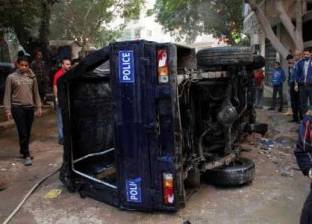 إصابة ضابط وأميني شرطة في انقلاب سيارة شرطة بسوهاج
