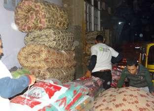 قافلة خير حديد المصريين ترمم 50 منزلاً وتوزع بطاطين ومراتب بقرى المحمودية