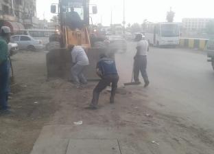 حملة نظافة بمحيط المستشفى العام وقسم شرطة العامرية بالإسكندرية
