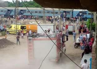 السيطرة على حريق شب في قطار واختناق شخص بالزقازيق