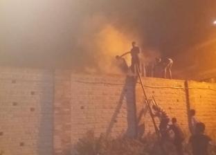 السيطرة على حريق نشب خلف كلية الدراسات الإسلامية بدسوق