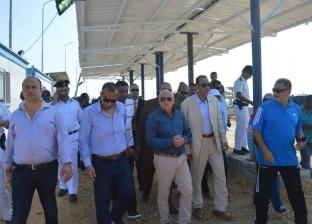 محافظ بورسعيد يعطي إشارة بدء العمل بمنفذ الجميل الجديد بالمحافظة