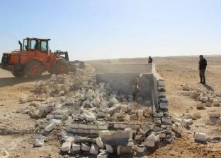 إزالة 99 تعد على الأراضي الزراعية ببني مزار والمنيا
