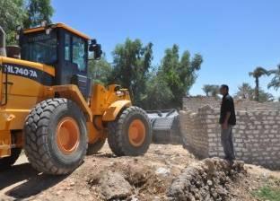 إزالة التعديات على نهر النيل بنسبة 100% في سوهاج