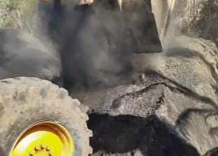 حملة مكبرة لإزالة مكامير الفحم بقرية الرياض بدمياط على مساحة 700 مترا