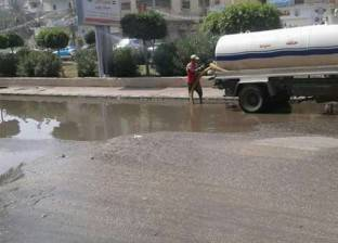 """رئيس """"شرق مدينة نصر"""": نعمل على إصلاح تسريب ماسورة مياه """"هشام بركات"""""""