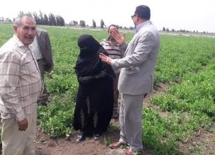 """""""وكيل زراعة دمياط"""" يتفقد شونة كفر سعد"""