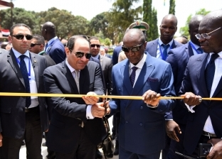 صور.. الرئيس السيسي يزيح الستار عن تمثال جمال عبد الناصر في غينيا