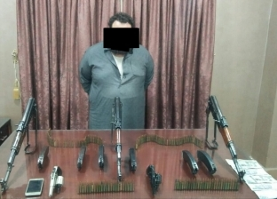 """القبض على تاجر بحوزته أسلحة آلية وذخائر بـ""""نبروه"""" في الدقهلية"""