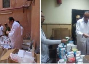 """""""الداخلية"""" تفحص مواطنين طبيا بمديرية أمن دمياط"""
