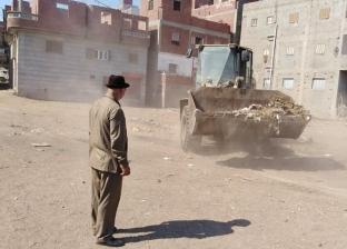 تسوية شوارع ورفع المخلفات بحملة نظافة مكبرة في الدقهلية بعد عيد الأضحى