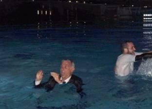 للمرة الثانية.. «حمام السباحة» وسيلة جهاز كوبر للاحتفال مع منتخب مصر