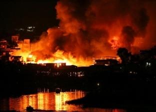 """السيطرة على حريق شب في منطقة شاطئ النيل بـ""""كفر شكر"""" بالقليوبية"""