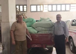ضبط 2 طن دقيق وسكر مدعم قبل بيعها في السوق السوداء بالمنيا