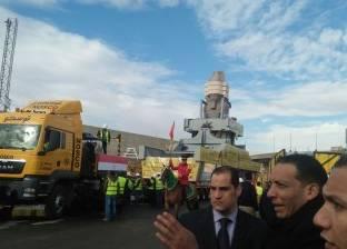محلب: المقاولون العرب تستكمل رحلتها لنقل تمثال رمسيس في لحظة تاريخية