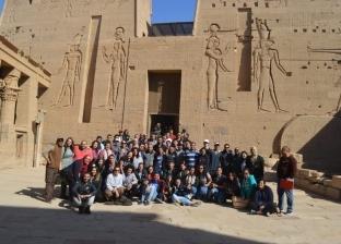 """""""الهجرة"""": زيارة إلى معبدي إدفو وكوم إمبو بأسوان لشباب المصريين بالخارج"""