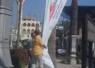 حملة لإزالة الإعلانات المخالفة بشرق الإسكندرية
