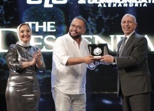صور.. تكريم نجوم فيلم الممر في حفل بأكاديمية النقل البحري