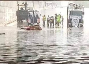 """شوارع بالقاهرة تغرق في """"شبر ميه"""".. ومصدر بالمحافظة: كمية المطر كبيرة"""