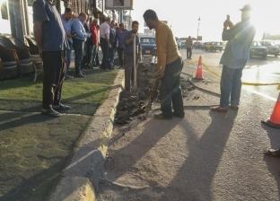 محافظ الإسكندرية يتابع زيادة عدد الشنايش بحي شرق لمواجهة الأمطار