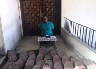 حبس تاجر مخدرات بالسويس ضبط بحوزته 250 كيلو جرام بانجو 15 يوما