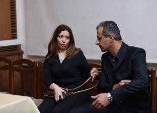 بالصور  غادة رجب تتقدم الحضور في عزاء ميشيل المصري