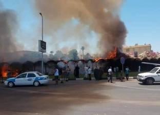 بالصور| حريق بموقف عربات حنطور في الأقصر دون خسائر بشرية