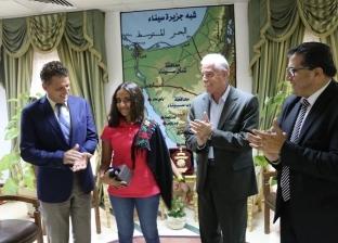 محافظ جنوب سيناء يكرم البطلة ريم أشرف أصغر غطاسة مصرية ويعدها بالدعم