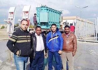وصول محولات محطة أولاد صقر بالشرقية بقدرة 80 ميجاوات