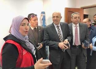 """نائب رئيس جامعة طنطا يتفقد مبادرة """"100 مليون صحة"""" بكلية التمريض"""