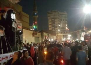 مسيرة لأهالي كفر شكر لدعم المشاركة في الانتخابات الرئاسية