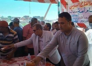 توزيع هدايا على أطفال قرية أبو النوم بكفر الدوار احتفالا بالعيد
