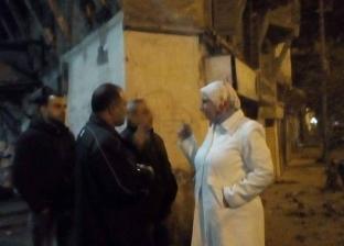 سقوط أجزاء من عقارين خاليين من السكان بحي جمرك في الإسكندرية