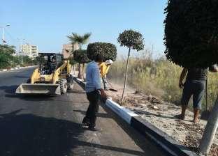 بالصور| حملة لنظافة شوارع ومداخل مدينة مصيف بلطيم