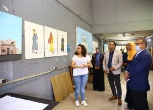 """رئيس جامعة الأقصر يتابع تحكيم مشروعات تخرج """"فنون جميلة"""""""