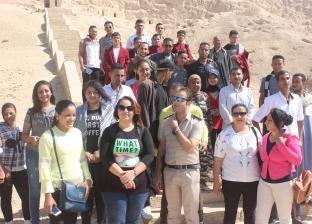 """""""تنشيط السياحة"""" تواصل رحلاتها لنشر الوعي بين المواطنين بأسيوط"""