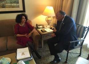 شكري يبحث مع وزيرة خارجية جنوب إفريقيا سبل تعزيز العلاقات