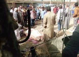 بالصور| مصرع عامل سقط عليه ونش خلاطة بقرية بلقينا في المحلة