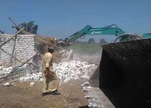إزالة 18 حالة تعدِ على أراضي زراعية بمركز كفر سعد في دمياط