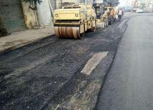 """""""حي الجمرك"""" بالإسكندرية يتابع أعمال تمهيد ورصف الطرق"""