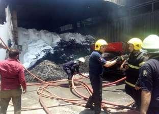 نشوب حريق هائل داخل مخزن قطن بمنطقة الصافورية في ميت غمر