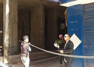 بالصور| رئيس حي ثان المحلة يقود حملة لإزالة الأبراج المخالفة
