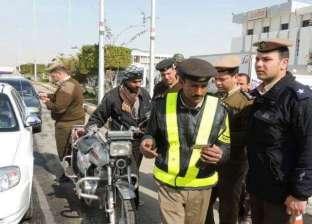 تزويد ضباط المرور بكاميرات أثناء حملات ضبط المخالفات في المنيا