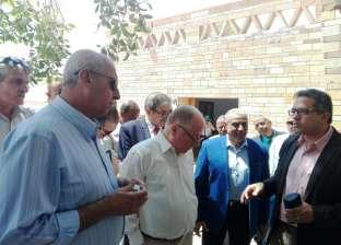 """وزيرا الآثار والثقافة يختتمان زيارتهما لـ""""أبوسمبل"""" في أسوان"""