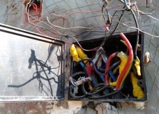 """أكشاك الكهرباء المتهالكة في القليوبية.. """"كابلات إرهاب"""""""