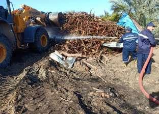 بالصور  إزالة تعديات 125 مكمرة فحم على الأراضي الزراعية في دمياط